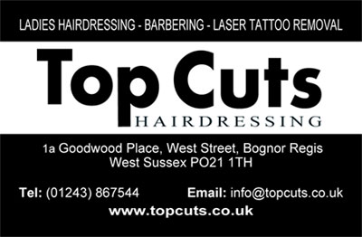 Top Cuts Hairdressing Business Card